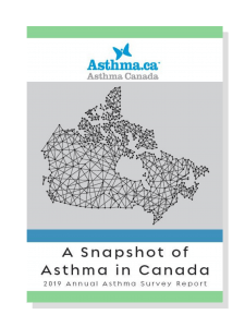 A Snapshot of Asthma in Canada Front Cover