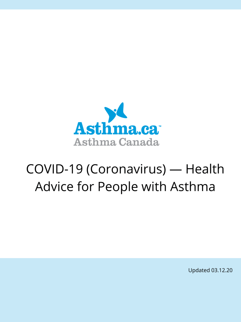 COVID-19 and Asthma - Health Advice for People with Asthma