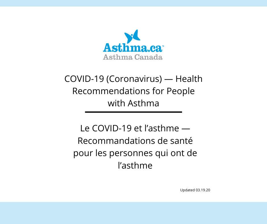 COVID-19 and Asthma - Health Recommendations for People with Asthma